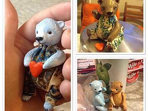 Мишки из полимерной глины на заказ | Ярмарка Мастеров - ручная работа, handmade