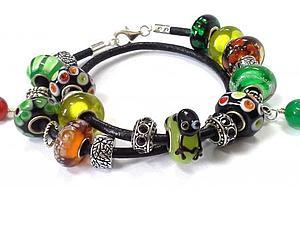 Кожаные браслеты а-ля Pandora - двойные, тройные, детские, любые! | Ярмарка Мастеров - ручная работа, handmade