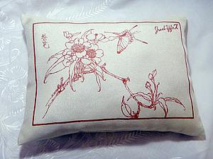 Как сделать интерьерную подушку с рисунком. Ярмарка Мастеров - ручная работа, handmade.