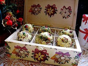 Аукцион!!!! Большой короб с елочными шарами! Завершен | Ярмарка Мастеров - ручная работа, handmade