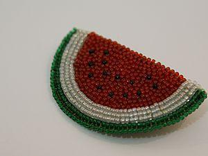 Вышитая бисером брошь | Ярмарка Мастеров - ручная работа, handmade