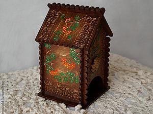 Декорируем домик для чая в лесном стиле с элементами точечной росписи | Ярмарка Мастеров - ручная работа, handmade