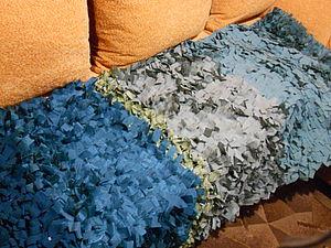 Пушистый ковер из старой одежды | Ярмарка Мастеров - ручная работа, handmade