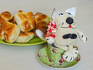 Вяжем крючком кота-мечтателя. Ярмарка Мастеров - ручная работа, handmade.