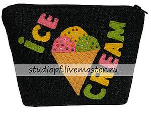 Первое поступление - Косметичка «Мороженое» | Ярмарка Мастеров - ручная работа, handmade