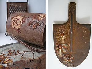 Вышивка по... металлу | Ярмарка Мастеров - ручная работа, handmade