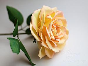 Роза из фоамирана | Ярмарка Мастеров - ручная работа, handmade