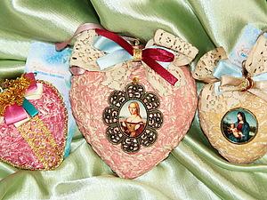 В продажу поступил набор елочных украшений из папье-маше с кулонами 7 и 10 см.   Ярмарка Мастеров - ручная работа, handmade