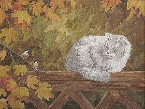 Картина из листьев | Ярмарка Мастеров - ручная работа, handmade