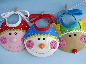 Слюнявчики для малышей. Идеи. | Ярмарка Мастеров - ручная работа, handmade