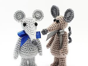 Мастер-класс по вязанию крючком мышки амигуруми. Ярмарка Мастеров - ручная работа, handmade.