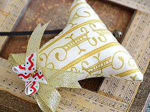 Украшение на елку – шьем новогодний колокольчик | Ярмарка Мастеров - ручная работа, handmade