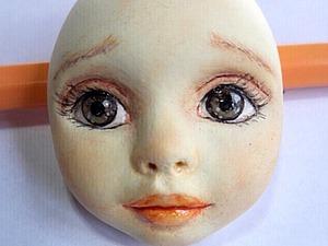 Роспись лица куклы Тедди-долл из самозатвердевающего пластика. Ярмарка Мастеров - ручная работа, handmade.