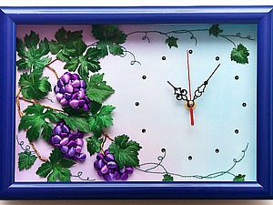 Оформляем часы с объемной вышивкой в багет под стекло. Ярмарка Мастеров - ручная работа, handmade.