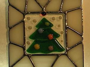 Новогодние витражные подарки ( тиффани+ фьюзинг) | Ярмарка Мастеров - ручная работа, handmade