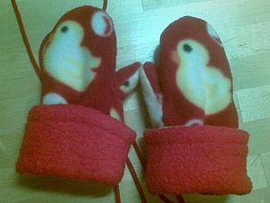 Шьем нарядные варежки из флиса для ребенка 2 - 6 лет   Ярмарка Мастеров - ручная работа, handmade