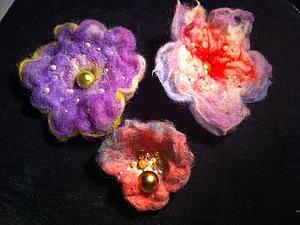 Шерстяные цветы-трансформеры для начинающих | Ярмарка Мастеров - ручная работа, handmade