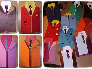 Открытка для мужчины - пиджачок | Ярмарка Мастеров - ручная работа, handmade