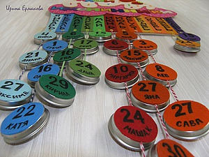 Делаем декоративное панно «Наши именинники» для детского сада. Ярмарка Мастеров - ручная работа, handmade.