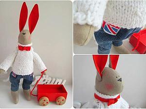 Делаем уши зайцу Тильда | Ярмарка Мастеров - ручная работа, handmade