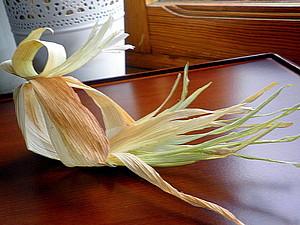Птичка из листьев початка кукурузы (кукурузной шелухи) | Ярмарка Мастеров - ручная работа, handmade