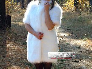 АКЦИЯ - СЮРПРИЗ! 15% скидка на две шубки из имитации меха белой норки и полярной лисы | Ярмарка Мастеров - ручная работа, handmade