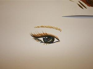 Как нарисовать брови кукле. Ярмарка Мастеров - ручная работа, handmade.