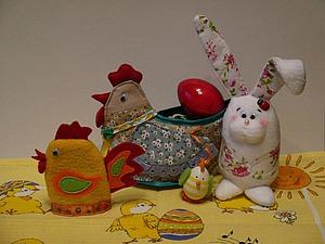 Видео мастер-класс: Пасхальный набор из текстиля. Ярмарка Мастеров - ручная работа, handmade.