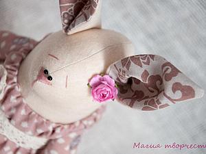 Зайка в розовом   Ярмарка Мастеров - ручная работа, handmade