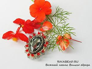 МК по броши со кристаллами Сваровски | Ярмарка Мастеров - ручная работа, handmade