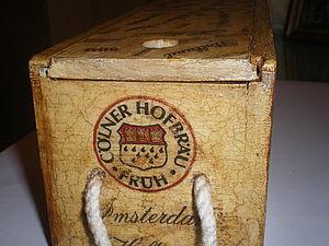 Превращение строптивого (декупаж старой коробки из-под вина). Ярмарка Мастеров - ручная работа, handmade.
