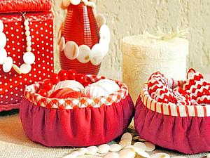 Шьем круглые корзиночки — быстро, легко, удобно   Ярмарка Мастеров - ручная работа, handmade