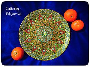 Как правильно загрунтовать и покрасить стеклянную тарелку для точечной росписи. Ярмарка Мастеров - ручная работа, handmade.