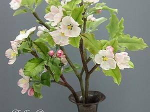 МК по лепке ветки цветущей яблони. | Ярмарка Мастеров - ручная работа, handmade