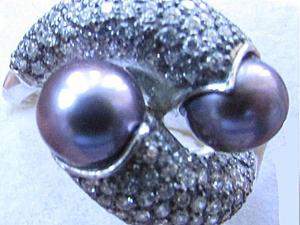 Аукцион! Кольцо серебряное с натуральным морским жемчугом.Серьги в подарок. | Ярмарка Мастеров - ручная работа, handmade