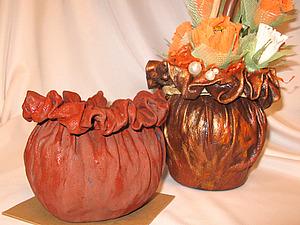 Кашпо-горшочек из ткани. Ярмарка Мастеров - ручная работа, handmade.