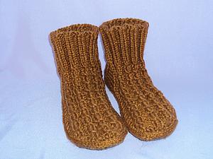 Носки с войлочной стелькой | Ярмарка Мастеров - ручная работа, handmade