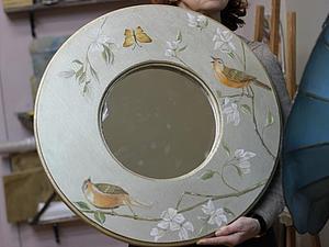 Художественная роспись рамы для зеркала. Творческий интенсив.   Ярмарка Мастеров - ручная работа, handmade