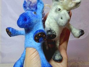 У кого еще синий конь не валялся? | Ярмарка Мастеров - ручная работа, handmade