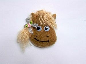 Лошадка - брошка или магнит (мк для начинающих) | Ярмарка Мастеров - ручная работа, handmade