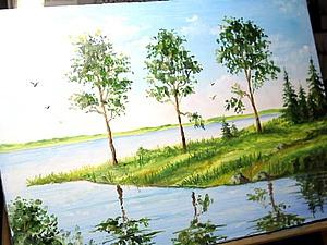 Рисуем летний пейзаж. Ярмарка Мастеров - ручная работа, handmade.