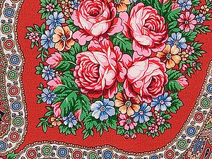 «Цветы России на Ваших Плечах» или сделай себе ШАРФ | Ярмарка Мастеров - ручная работа, handmade