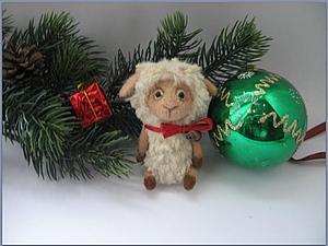 Новогодний мастер-класс: маленькая овечка. Ярмарка Мастеров - ручная работа, handmade.
