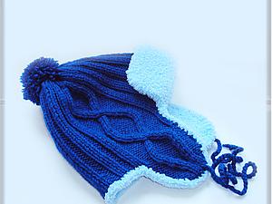 Зимняя вязаная шапочка на ребенка 1,5 - 2-х лет. Ярмарка Мастеров - ручная работа, handmade.