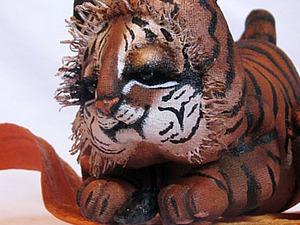Создаем интерьерную куклу: тигренок на подсолнухе | Ярмарка Мастеров - ручная работа, handmade