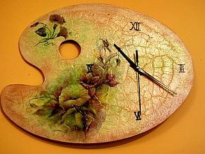Делаем часы «Палитра» в технике декупаж. Ярмарка Мастеров - ручная работа, handmade.