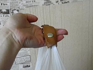 Делаем кожаную ручку для переноса тяжелых пакетов. Ярмарка Мастеров - ручная работа, handmade.