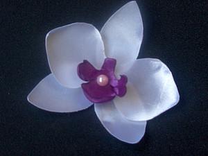 Орхидея из атласной ленты | Ярмарка Мастеров - ручная работа, handmade