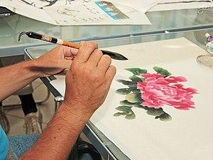 Китайская традиционная живопись. Традиционная осенняя презентация! | Ярмарка Мастеров - ручная работа, handmade