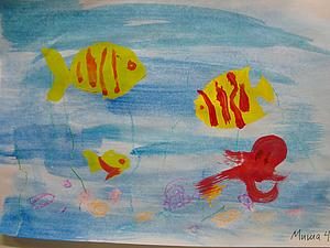 Разривающее занятие: рисуем морское дно. Ярмарка Мастеров - ручная работа, handmade.